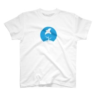 10_前面ロゴ大ブルー_多様な学びTシャツ T-shirts