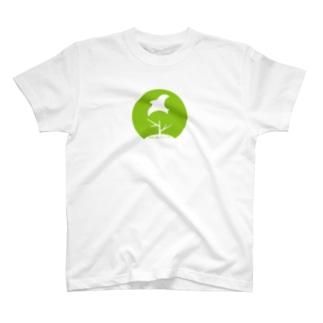 11_前面ロゴ大グリーン_多様な学びTシャツ T-shirts