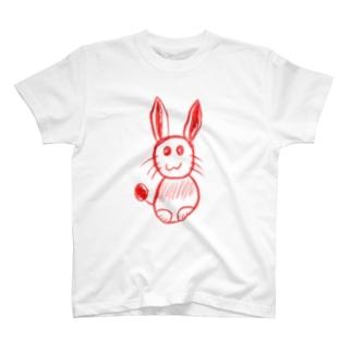 紅いうさぎ by D T-shirts