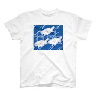 Fishes blue T-shirts