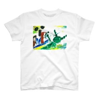 GK! WEB SHOPのサンドバッグを7回殴る T-shirts
