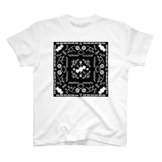 アリンコペイズリー -ブラック- T-shirts