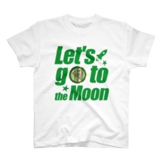 【仮想通貨】ADKグッズ(Tシャツ等)専門店 のLet's go to the Moon(ADK) T-shirts