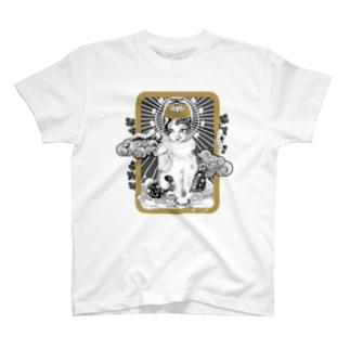 養蚕守護猫 T-shirts
