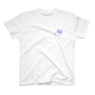 MESARION+ロゴ文字切り抜きVer(紫) T-shirts