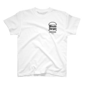 MinatoBurgerグッズ(白/ブラック) T-shirts