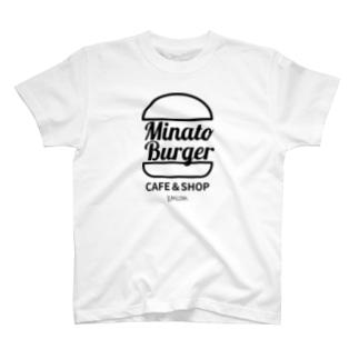 kumiconaShopのMinatoBurgerグッズ(ブラック) T-Shirt