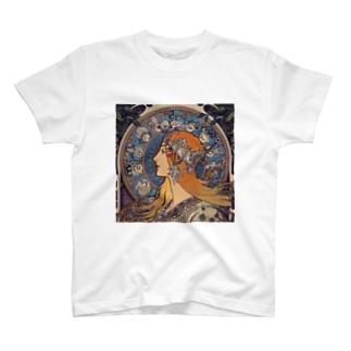 ミュシャ 『 黄道12宮 』 T-shirts