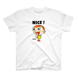 nice charlie 背景クリア T-shirts