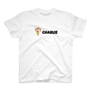 背面前面イラストnice charlie  T-shirts