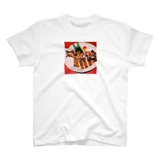 イカのワンナイト干し T-shirts