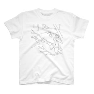 冬 シンプル T-shirts