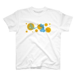 がぶねこ 夏みかんver. T-shirts