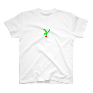 ヘタが大きくなりすぎたトマト T-shirts