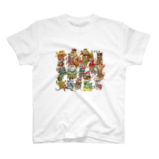 ざわつく動物たち T-shirts