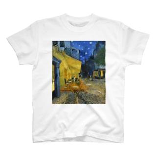 ゴッホ 夜のカフェテラス T-shirts