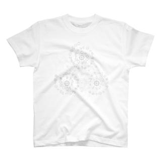 カタカムナ567(BK)(薄い下地色用) T-shirts