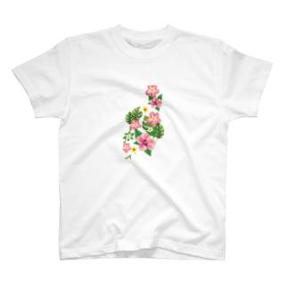 ハイビスカスのクリアケース T-shirts