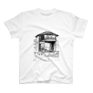 いなか系廃屋モノクロフォト T-shirts