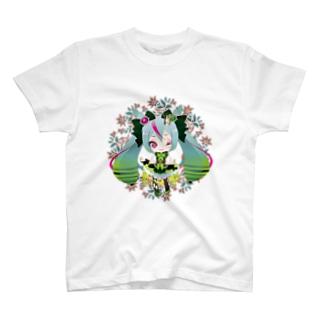初音ミク_レウコクロリディウム T-shirts