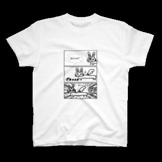 Giftingdanceの胴長うさぎ天使 T-shirts