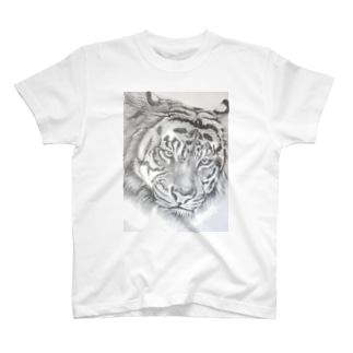 トラの鉛筆画 T-shirts
