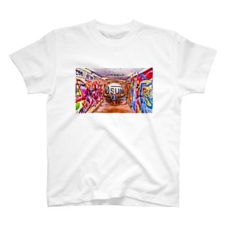 東欧のグラフィティとシルバーGANTZとロゴ T-shirts