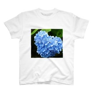 ハートの紫陽花♥ T-shirts