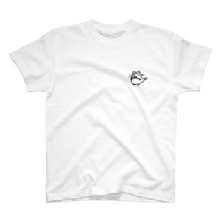 ラクガキンカ バウムクーヘンはお巣きでつか 黒 T-shirts