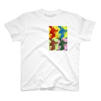 夜中に溢した珈琲は横顔 T-shirts