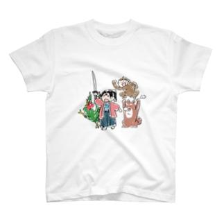 桃太郎と無抵抗鬼 T-shirts
