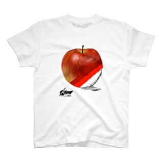 Kakikake series「林檎」 T-shirts