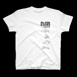 cosayaのNo.538サカナ T-shirts