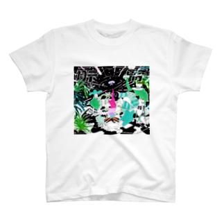 肝腎ロゴ入り T-shirts