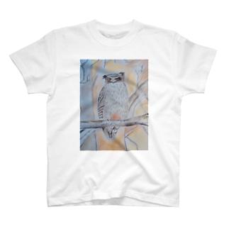 北海道のいきものシリーズ シマフクロウ T-shirts