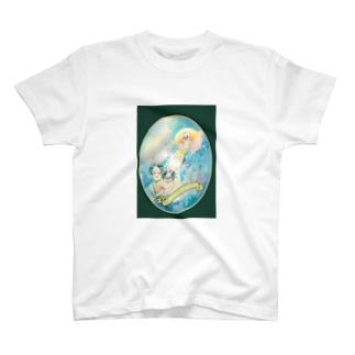 やってきた子宝ちゃん T-shirts