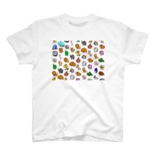 動物モノグラム T-shirts