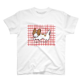 わちゃぽ宇宙人/シマダソラシドのくそいぬちゃん T-shirts