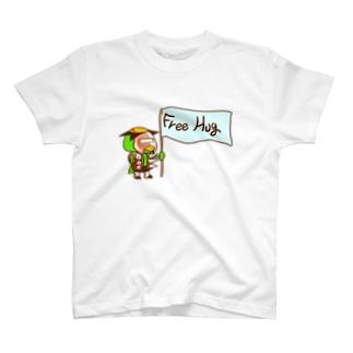 千田純生のフリーハグさん T-shirts