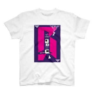 マックから飛び降りるバイオ Tシャツ T-shirts