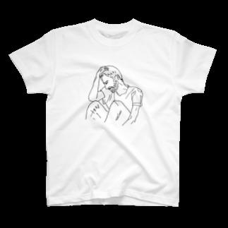 かりん karinの悩む人 T-shirts