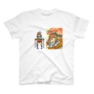 熟睡少女の起床 T-shirts
