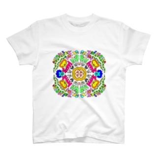 アニマル マンダラ T-shirts