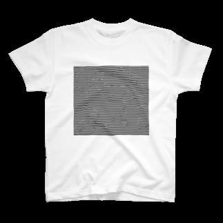 インターネットショッピングのボーダー T-shirts