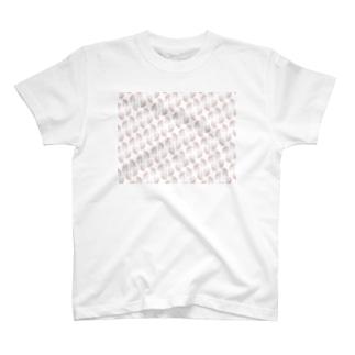 ハムけつ 斜めストライプver. T-shirts