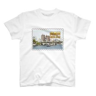 東京都:隅田川と水上バス★白地の製品だけご利用ください!! Tokyo: Sumida river & water bus★Recommend for white base product only !! T-shirts