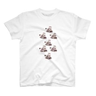 Piyoタンク!隊列Tシャツ T-shirts