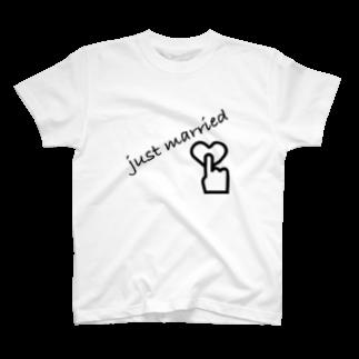 MMrisamorのjust married T-shirts