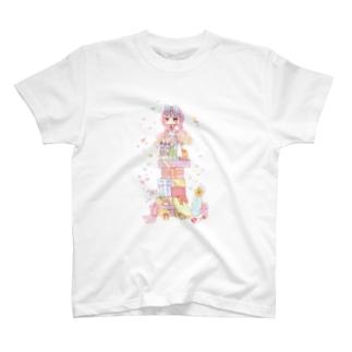 プレゼントと女の子 T-shirts