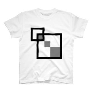 スクエア2 T-shirts